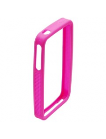 Protector bumper de silicona Apple iPhone 4 rosa