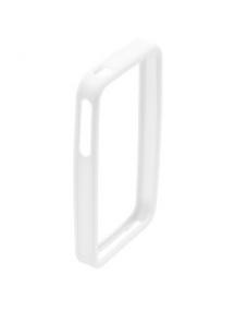 Protector bumper de silicona Apple iPhone 4 blanco