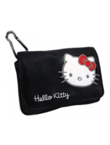 Funda de piel Hello Kitty horizontal negra