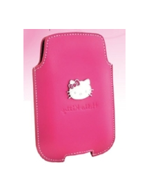 Funda de piel Hello Kitty vertical rosa talla L