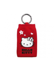 Funda calcetín Hello Kitty rojo con corazones