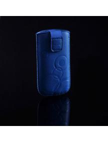 Funda cartuchera en piel Telone Deko azul para Nokia E66