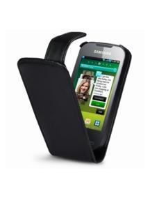 Funda solapa en piel Telone para Samsung S5830 Galaxy Ace negra