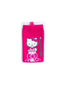 Funda calcetín Hello Kitty rosa con lazos