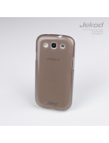 Funda TPU + lámina display Jekod Samsung i9300 Galaxy S III negr