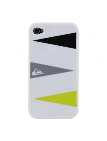 Protector Quiksilver iPhone 4 - 4S blanco triángulos