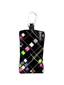 Funda calcetin Quiksilver iPhone 4 negro - fluorescente