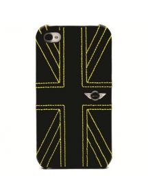 Protector trasero iPhone 4 - 4S Mini Cooper bandera negra - amar