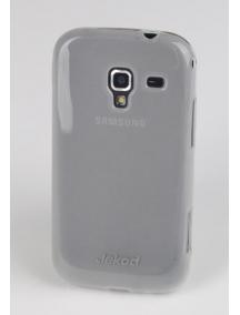 Funda TPU + lámina disp. Jekod Samsung i8160 Galaxy Ace 2 blanca
