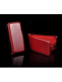 Funda de solapa en piel Telone Slim HTC Desire C roja