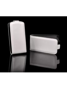 Funda de solapa en piel Telone Slim Nokia 610 Lumia blanca