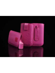 Funda cartuchera en piel Telone rosa Samsung i9300