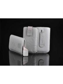 Funda cartuchera en piel Telone Deko gris Samsung i9300