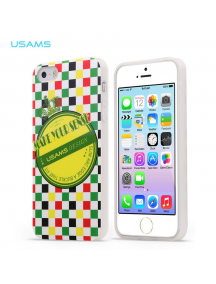 Funda TPU Usams Crown Series iPhone 5 - 5S verde