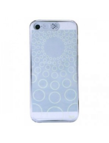 Funda trasera Noosy Clear Circles iPhone 5 - 5S transparente