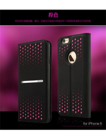 Funda Usams libro Groove Series iPhone 6 Plus negra/rosa