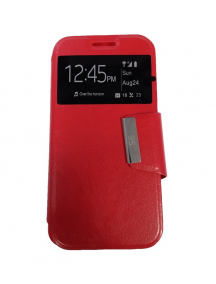 Funda libro S-view Kazam Trooper 4.5.0 roja