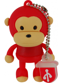 Memoria Mooster USB 8GB TOONS red monkey mx 121