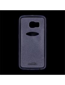 Funda TPU Kisswill Shine Samsung Galaxy S6 Edge G925 azul