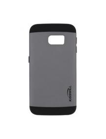 Funda rígida TPU Kisswill Slim Armor Samsung S6 edge G925 gris