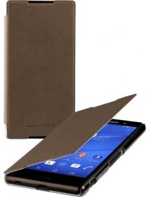 Funda libro Sony SMA5157M Xperia Z3 D6603 marrón