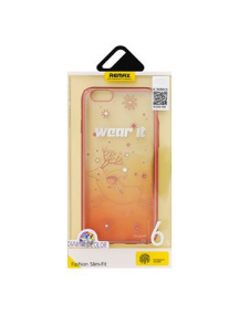 Protector trasero Remax Diamond rosa dorado iPhone 6 - 6S dorado