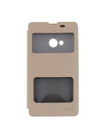 Funda libro Pudini S-view Nokia Lumia 535 dorada