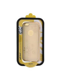 Funda TPU Remax Flower2 iPhone 6 - 6s dorado