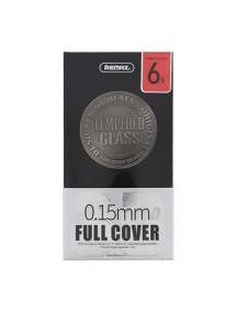 Lámina de cristal templado Remax 0.15mm negra iPhone 6