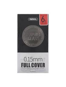 Lámina de cristal templado Remax 0.15mm negra iPhone 6 Plus