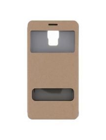 Funda libro Pudini S-view Samsung Galaxy Note 4 N9100 dorada