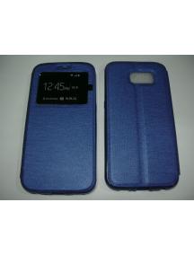 "Funda libro TPU S-view imán iPhone 6 4.7"" azul"