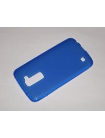 Funda TPU LG K10 K420n azul