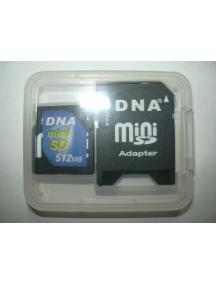 Tarjeta de Memoria Mini SD 512Mb