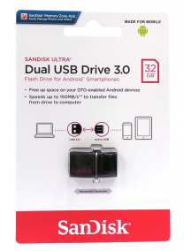 Memoria USB Dual Drive 3.0 SanDisk 32GB OTG
