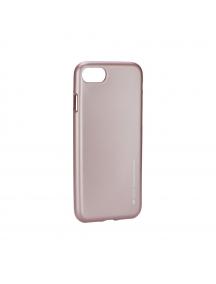 Funda TPU Goospery iPhone 7 rosa - dorado
