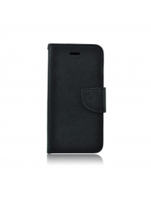 Funda libro Fancy Huawei Ascend P10 negra