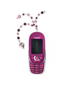 Colgante Escada corazón plata y cristales rosas y morados