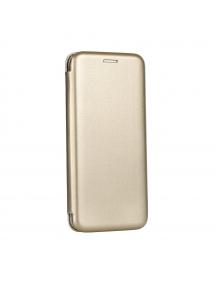Funda libro Forcell Elegance Huawei Ascend P10 dorada