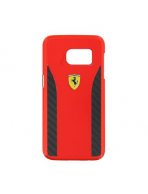 Protector trasero rígido Ferrari FECCHCS7RE Daytona Samsung Galaxy S7 G930