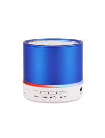 Altavoz bluetooth metálico azul