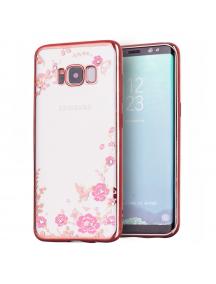 Funda TPU Bloomy Flower Samsung Galaxy S8 G950 rosa