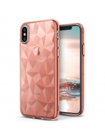 Funda TPU Ringke Air Prism 3D iPhone X rosa - dorado