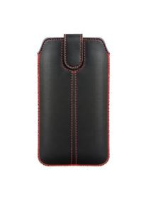 Funda cartuchera vertical Forcell Ultra Slim M4 iPhone X negra