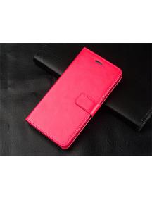 Funda libro TPU Huawei Honor 9 lite rosa