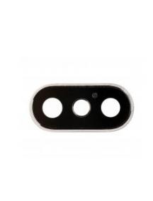 Ventana de cámara iPhone X blanca