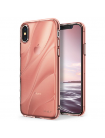 Funda TPU Ringke Flow iPhone X rosa