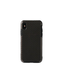Funda TPU Remax Serui RM-1655 iPhone X fibra de carbono