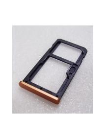 Zócalo de SIM + micro SD Nokia 6 2017 Dual Sim (TA-1021) cobre