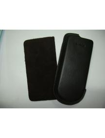 Funda de piel Nokia 8800 marrón oscuro